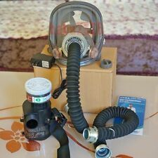 Power Supplied Full Face Air Fed Paint Spray Mask Respirator System with Filter
