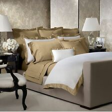 Ralph Lauren Langdon Border Full/Queen Duvet Cover Polished Bronze $400 NEW