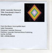 (GI495) Lavender Diamond, Everybody's Heart's Breaking Now - DJ CD