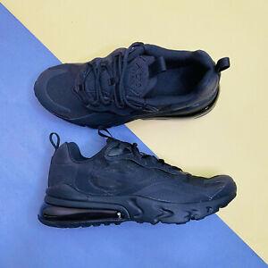 Nike Air Max 270 React GS Trainers Shoes Black UK 5 EUR 38 US 5.5Y BQ0103 004