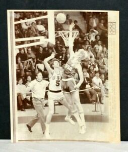 1972 Doug Collins, Team U.S.A at Olympics, Stamp Dated Chicago Sun Times Photo