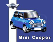10 x 8 MINI COOPER RALLY CAR BRITISH LEYLAND AUSTIN ROVER METAL SIGN PLAQUE 1018
