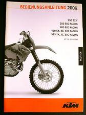 Manuel d'utilisation KTM 250/400/450/525 SX XC EXC RACING 2006  3.211.73DE