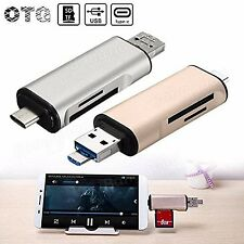5 in 1 USB 3.1 Type-C To Micro USB 2.0 TF/SD Card Reader USB 3.0 Adapter for ...