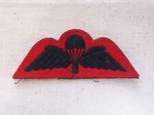 Cloth Embroidered Parachute Qualification Wing Badge Red Felt