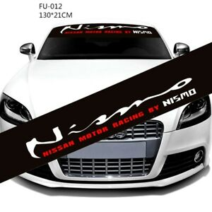 1Pcs Motor Racing By Nismo Decals Car Front Windshie WRC Modified Sports Sticker