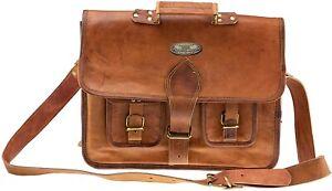 Men's Vintage Aircabin Leather Satchel Shoulder Laptop Bag Messenger Briefcase