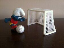Smurf Soccer Player Rare VTG Smurfs Figure Football Toy Lot Peyo 20035 2.0035