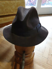 Vintage Scott & Co Hatters to the King, London, Fedora Hat, size 57/7. Brown.