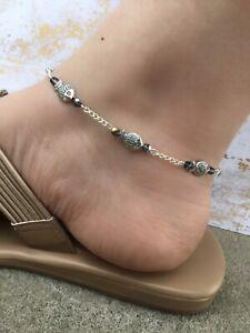 Women's Anklet - Ankle Bracelet - Fish Jewelry - Anklets for Women - Blue Anklet