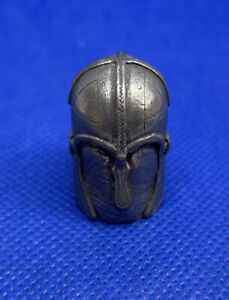 Collectable Pewter Thimble Knights Helmet