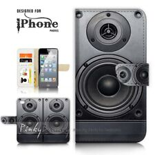 ( For iPhone 7 ) Wallet Case Cover P21057 Boom Box