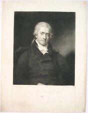 gravure XIXème, Portrait de Sir Samuel Romilly