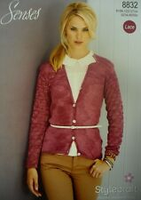 Stylecraft Ladies Cardigans Knitting Pattern 8832   SENSES Lace, 4 ply