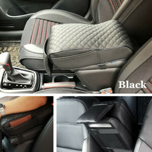 Universal Black Leather For Car Seat Armrest Pad Auto Center Console Cushion