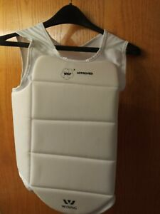 Wesing WKF Aproved white large  Martial Arts Chest Protector