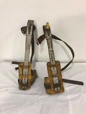 BUCKINGHAM STEEL LINEMAN Pole Tree Climbing Spurs Spikes Gaffs Hooks w/ Pads