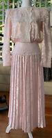 Vintage 90's Pink Satin & Lace Jessica Mcclintock Prom/ Wedding Dress- Size 6