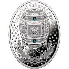 Napoleonic Egg Imperial Faberge Eggs Proof Silver Coin 1$ Niue 2012