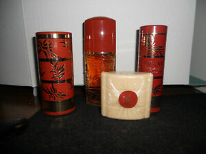 Yves Saint Laurent OPIUM 4 Piece Set - 2 Powders, Bar Soap and EDT Spray - NEW