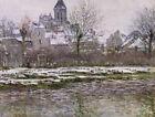 Church Vetheuil Snow Claude Monet Winter Landscape Art Print Canvas Small 8x10