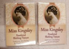 Miss Kingsley - Powdered Blotting Tissues - Oil Blotting Paper Nip, 2 pack