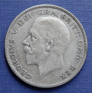 British Half Crown Coin, 1929 King George V~.500 Silver 14.1g~KM#835~VF~B13