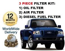 FOR FORD RANGER 2.5DT 3.0DT 2006-12/2011 NEW SERVICE SET OIL AIR FUEL FILTER KIT