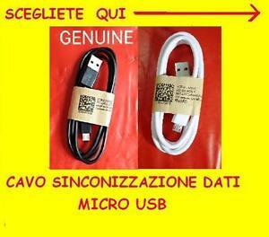CAVO DATI MICRO USB CARICABATTERIA SINCRONIZZA SAMSUNG LUMIA GALAXY LG MOTOROLA