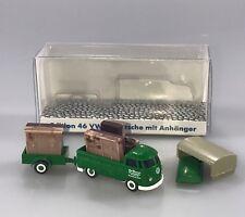 Wiking 1:87 H0,VW T1 Pritsche + Anhänger + Landhaus Möbel, Lechtoys Sondermodell