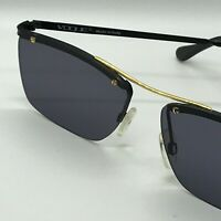 "VINTAGE ""VOGUE"" Sunglasses  mod. Johan  57/16 -  Black/Gold - Grey Lenses"