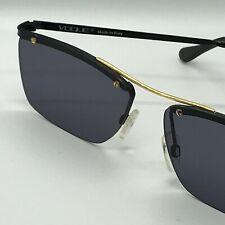 "VINTAGE ""VOGUE"" Sunglasses  mod. Johan  57/16 -  Black/Gold - Grey Lenses"