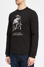 LAMBORGHINI Men's Big Bull Long Sleeve T-Shirt, Black