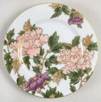 Fitz & Floyd Cloisonne Peony White Accent Salad Plate 126981