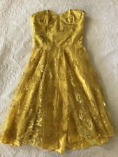 Yellow EMANUELLA Y Cocktail Dress Last GASP Classical Series Size XS RRP $569