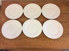 CASA DOMANI CASUAL WHITE EVOLVE RIMMED 6 x SALAD/FISH PLATES