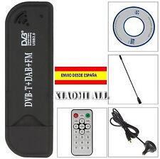 Sintonizador televisión digital TDT HD USB TV FM + DAB DVB-T RTL2832U + R820T
