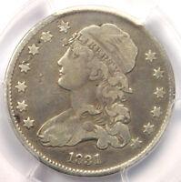 1831 B-7 FS-301 Capped Bust Quarter 25C - PCGS VF Details - Rarity-5+ Variety!