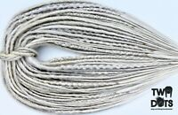 Silver & White Blonde Synthetic Dreads, DE, SE Dreads & Mix, 20 Inches,