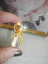 Avon Pink & Gold Cancer Awareness Tac Pin with Rose