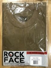 New ROCK FACE True American Gear Layer 1 Short sleeve Tshirt Coyote tan, Sz: Med