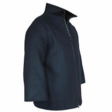 AKRIS PUNTO $2,490 oversized boxy navy blue jacket wool-blend coat 44F/12-US NEW