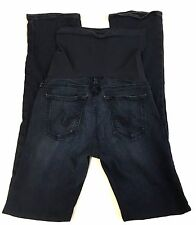 AG Adriano Goldschmied Maternity Jeans Micro Bootcut Size 27x31 Dark Wash
