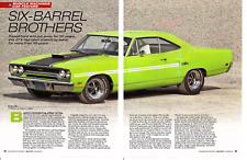 1970 PLYMOUTH GTX 440-6 ~ GREAT 5-PAGE ARTICLE / AD