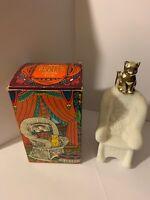 Vintage AVON Sitting Pretty Persian Wood Cologne Bottle ORIG BOX 4 fl oz CAT