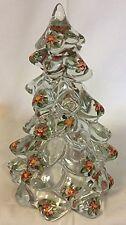 "Christmas Holiday Tree - Crystal Handpainted Glass - Mosser USA - Large 8"""