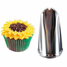 FD3642 Sunflower Leaf Cupcake Fondant Icing Piping Nozzles Pastry Cake Decor 1pc