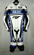 *Yamaha R1 Motorcycle Motorbike Leather 1PC Suit in Cowhide Leather Motogp*