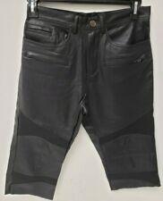 Kite Mens Shorts Vegan Leather Shorts Black 30 READ