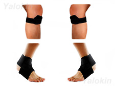 2 Runner Knee Str, 2 Ankle Straps for Recovery, Injury Protection Support (ST10)